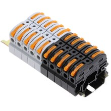 5/10 шт. PCT-211 Din рельс для быстрого подключения Пресс Сращивание проводов разъем вместо того, чтобы UK2.5B клеммной колодки