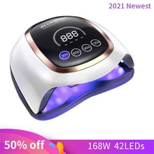 Powerful UV LED Lamp for Nails Gel Dryer 80W Lamp for Drying Nails UV Gel With smart Sensor LCD Display Lamp for Manicure pedicu