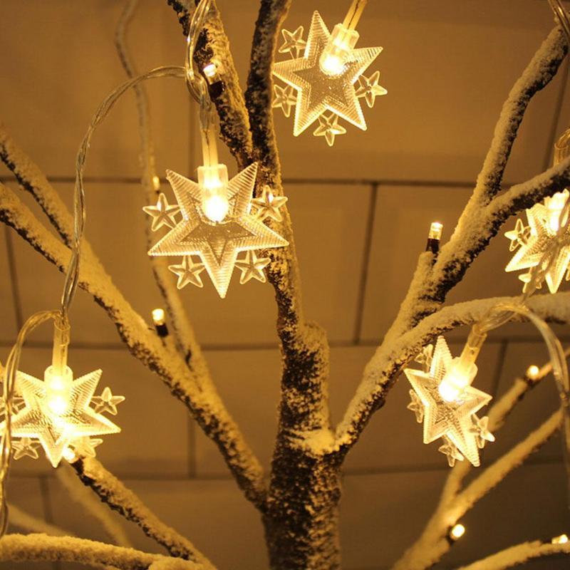 1.5m 10head Led Lights String Ramadan New Eid Mubarak Christmas Festival Party Moon Star Room Hanging Decoration Fairy Lamps