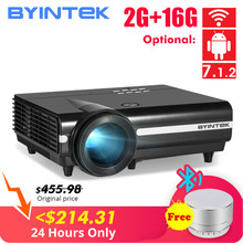 BYINTEK MOON BT96Plus Android Wifi Smart Video 1080P LED Projector For Full HD Home Theater Support 4K Video For Netflix(China)