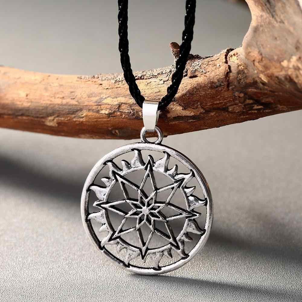 QIAMNI Nordic Viking krzyż topór Thor Hammer naszyjnik wisiorek słowiański Symbol amulety pogańskich etniczne religijne męskie mężczyzn biżuteria prezent