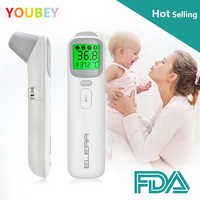 YOUBEY Baby Thermometer Infrared Digital LCD Body Measurement Forehead Ear Non-Contact Adult Body Fever IR Children Termometro