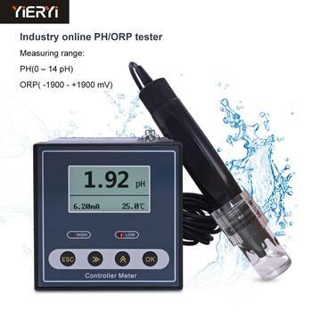 2018 New Online Industrial PH Controller ORP Meter Monitor Digital 0.02pH 1mV Upper Lower Limit Control Alarm pH Tester