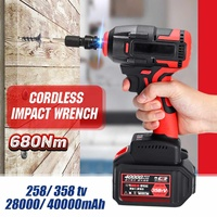 358tV Electric Wrench Brushless Brushless Impact Wrench 680Nm Torque Drill 40000mah with LED Dril Installation Power Tools