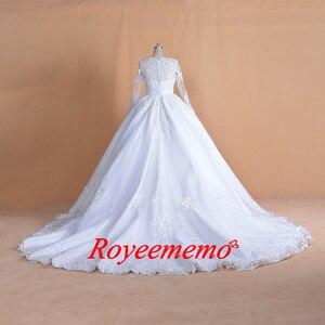 Image 2 - 2020 Full ประดับด้วยลูกปัด TOP งานแต่งงานชุดยาวแขนงานแต่งงานชุดที่กำหนดเองขายส่งเจ้าสาวชุดใหม่ชุดเจ้าสาวชุดบอล