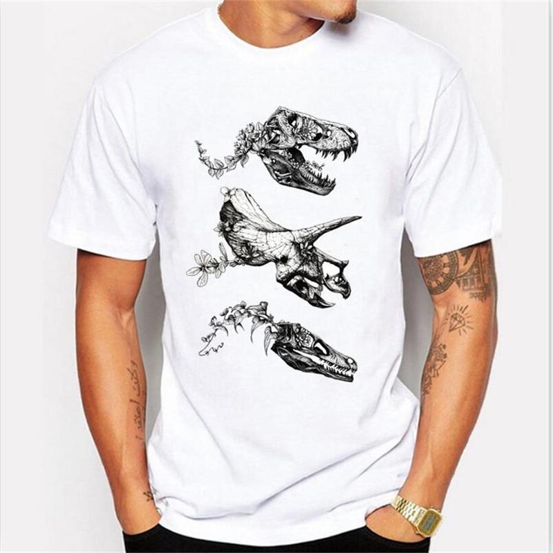 Jurassic Bloom Design T Shirt Men Harajuku Men Tops Male Cool Dinosaur  Print Tshirt Hipster Tops Short Sleeve 2020 New
