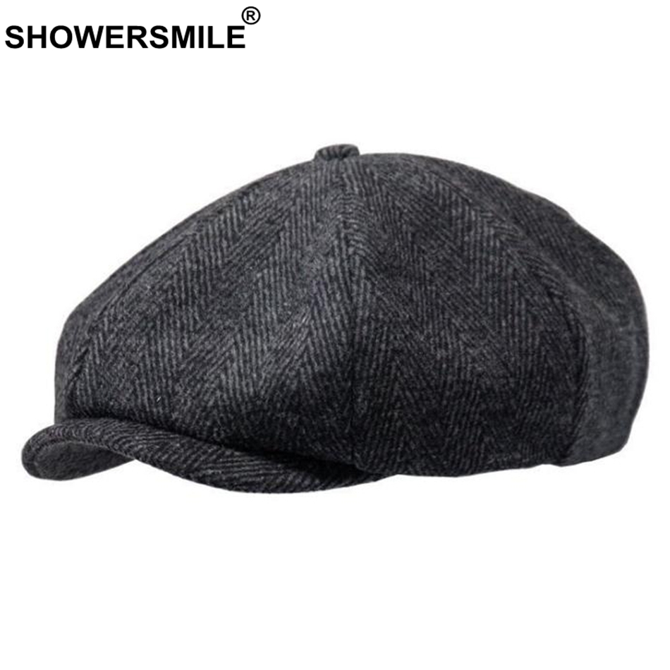 Winter Fashion Women/'s Woolen Driving Style Warm Hat Beret Octagonal Cap L2S