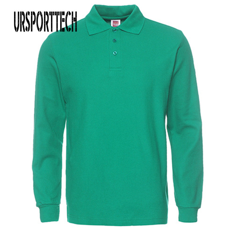 2019 New Brand Mens Polo Shirt Long Sleeve Man Polo Shirts Men Fashion Casual Cotton Slim Fit Polos Men Jerseys Plus Size XS-3XL