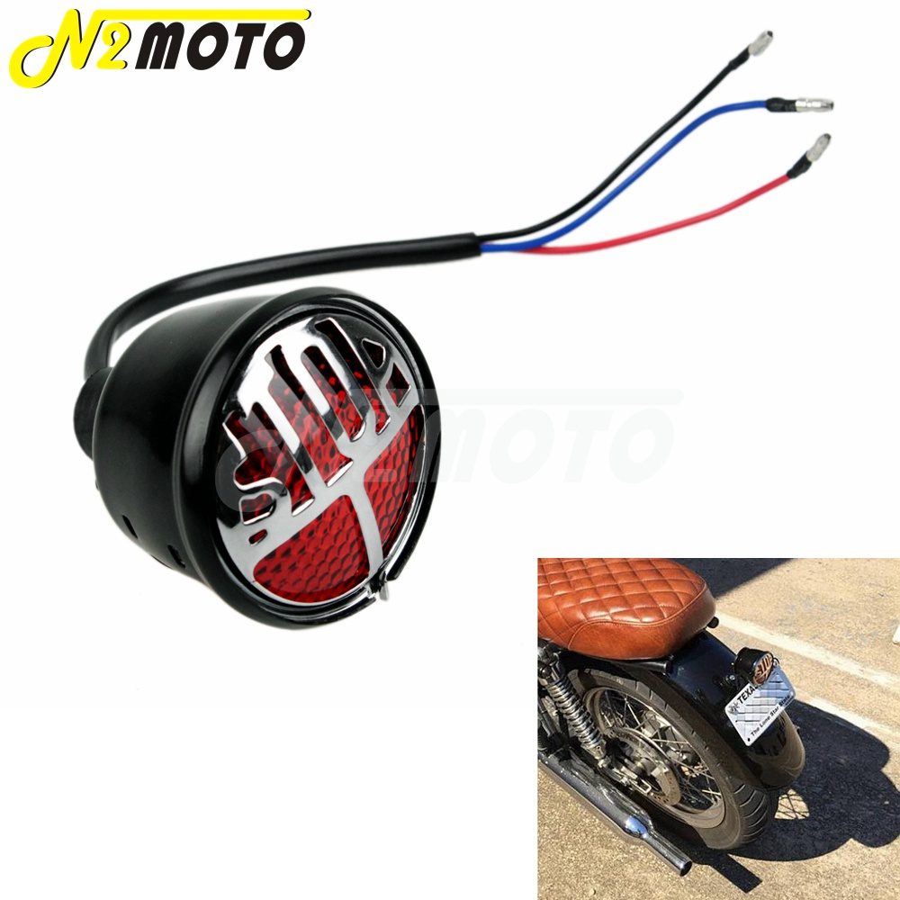 Cafe Lucas  LED Tail Light Black With Choice Lens Bobber