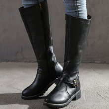 Boots Wide Calf Extra-Wide Heel Over-The-Knee Womens Regular Stacked Ruched Faux-Suede