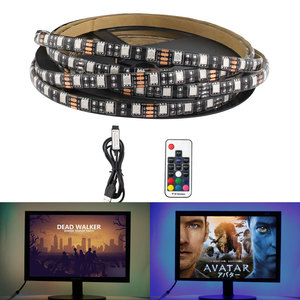 5 V USB RGB TV Backlight Led Strip 5V Tape PC 5V 5050 Waterproof RGB Led Tape Strip USB 5V Led Tape Waterproof with controller