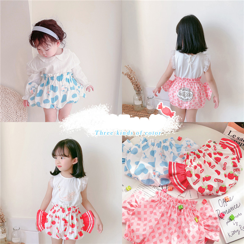 Baby Clothes Toddler Girl Candy PP Pants  Soft Diaper Panty Nappy Cover Panties Cute Short  Pants Outfit Diaper Cover Buds