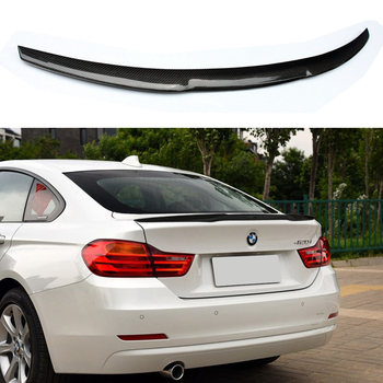 For BMW F36 Carbon Rear Spoiler M4 Style 4 Series 4 Door Gran Coupe Carbon Spoiler 2014 2015 2016 - UP 420i 420d 428i 435i 2pcs set double slat kidney grille front bumper racing grill for bmw 4 series f32 f33 f36 420i 428i 435i m4 2014 2016