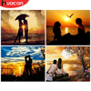 HUACAN Painting By Numbers Lovers Hand Painted Pictures By Number Figure Sunset On Canvas Home Decoration DIY Gift Wall Art
