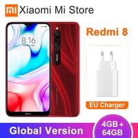 In Stock Global Version Xiaomi Redmi 8 4GB 64GB Snapdragon 439 Octa Core 12MP Dual Camera Mobile Phone 5000mAh Large Battery OTA