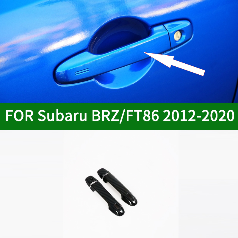 Carbon fibre pattern for Toyota GT86 Scion FR S For Subaru BRZ 2 Door Outside Handle  Cover 2012 2020 2013 2014 2015 2016 2017|Car Stickers| |  - title=