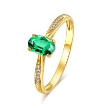 925 silver rings for women green gem crystal adjustable ring wedding engagement ring jewelry accessories gift for the new year