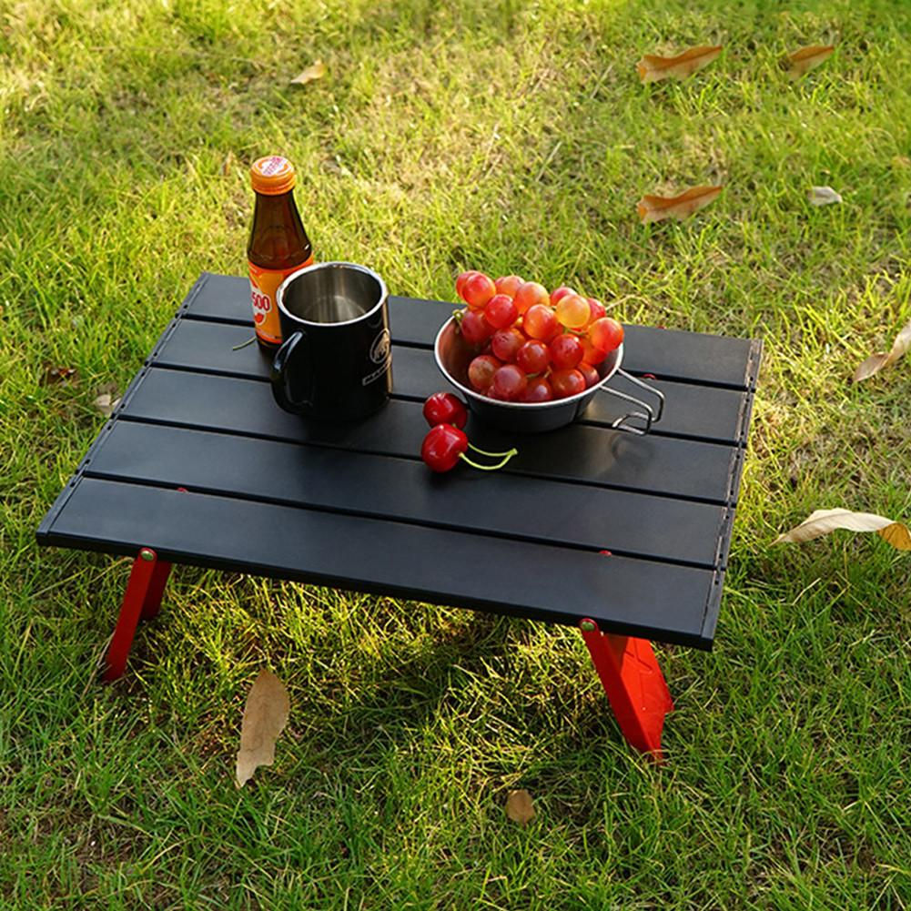 Folding Camping Table Beach Table Outdoor Aluminum Alloy Portable Utility Fishing Table Picnic Travel Laptop Backpacking Desk
