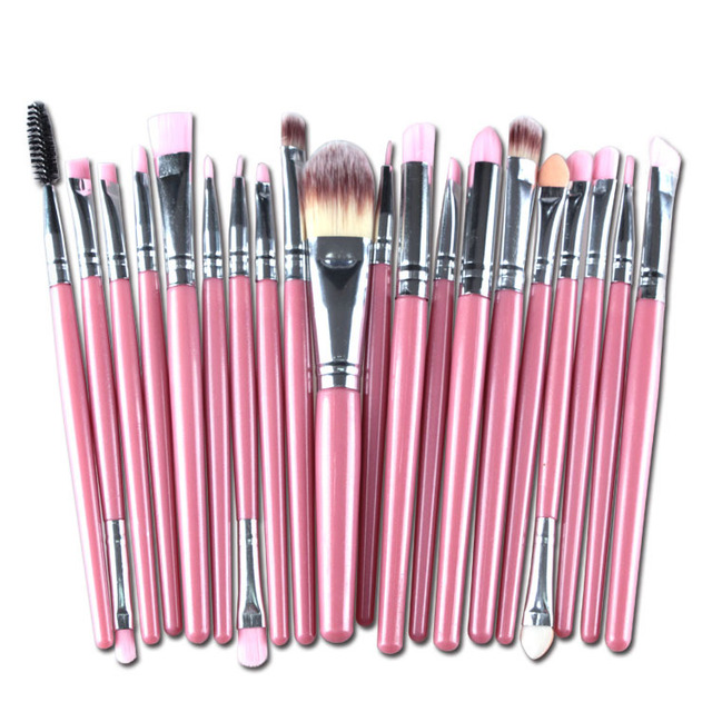 20 Pcs/lot Makeup Brushes Set Eye Shadow Blending Eyeliner Eyelash Eyebrow Brushes For Makeup Brush Cosmetics Beauty Tools TSLM1 2