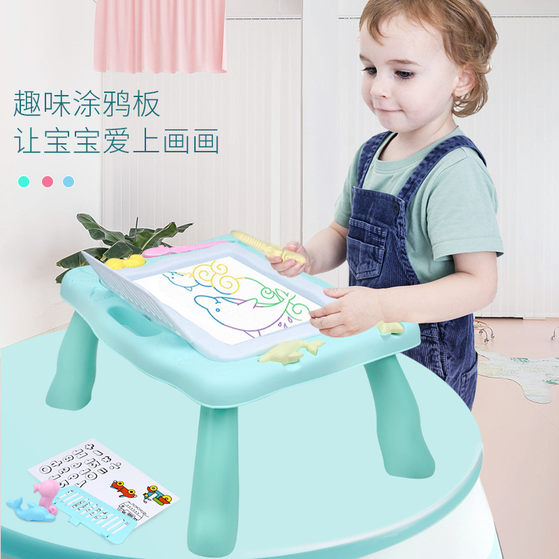 Strange New Children'S Educational Early Childhood Toy Educational Black And White Drawing Board Plastic Magnetic Drawing Board
