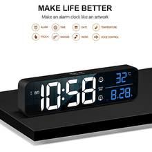 Wireless USB LED Digital Wecker Uhr Digitale Snooze Elektronische Spiegel Uhren Dual wecker Modus Home Tisch Wand Dekor