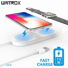 2 in 1 Mini AirPower Wireless Charger For iPhone X 8 Plus Apple Watch Fast Charging Pad Samsung Galaxy Phone