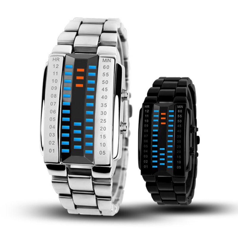Couples Watches LED Digital Watch Men Women Lovers Sport Fashion Clock Top Brand Luxury Alloy Strap Unisex Reloj Hombre