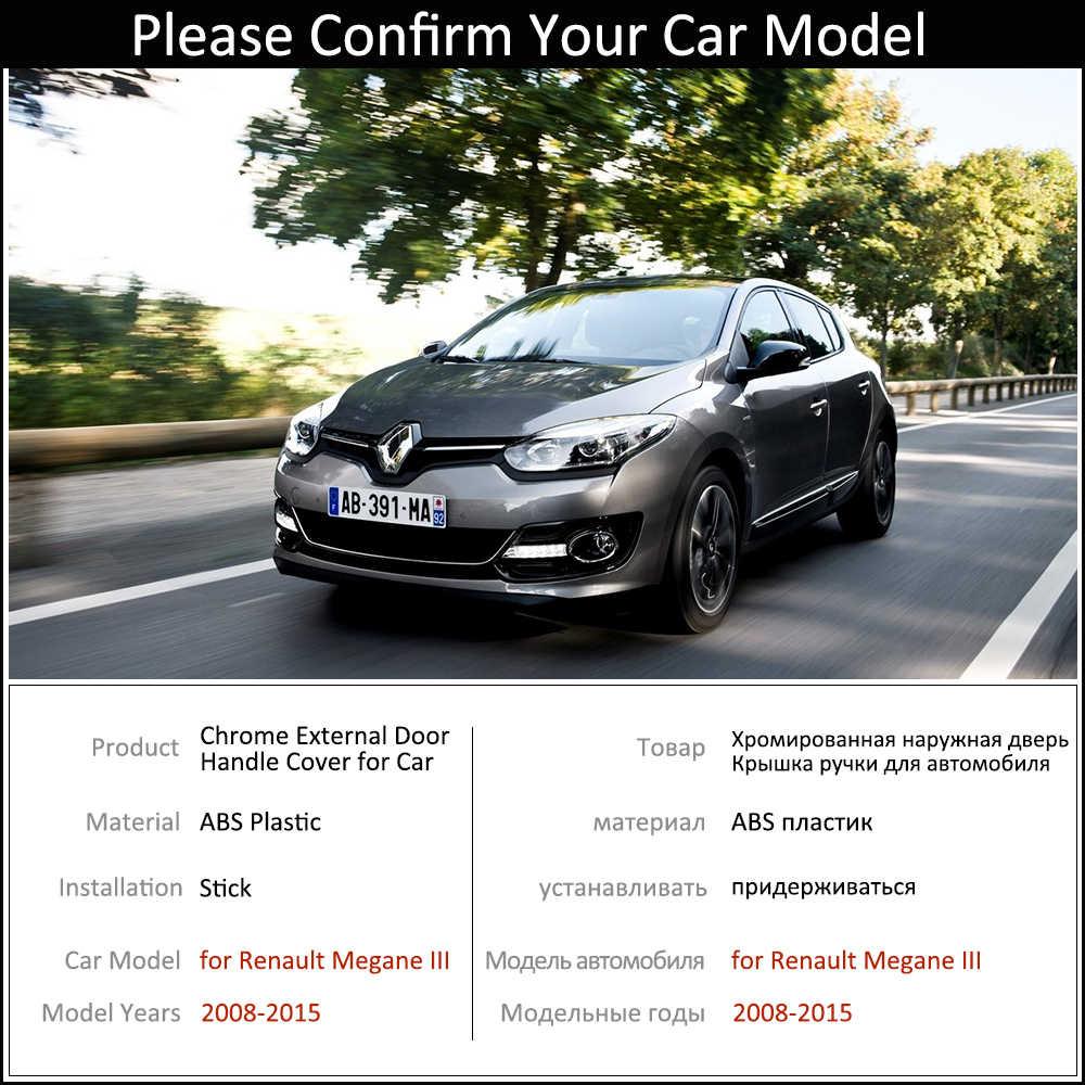 Czarny kolor drzwi z włókna węglowego uchwyty pokrywa zestaw wykończeniowy dla Renault Megane III Scala 2008 ~ 2015 akcesoria samochodowe Protector stylizacja
