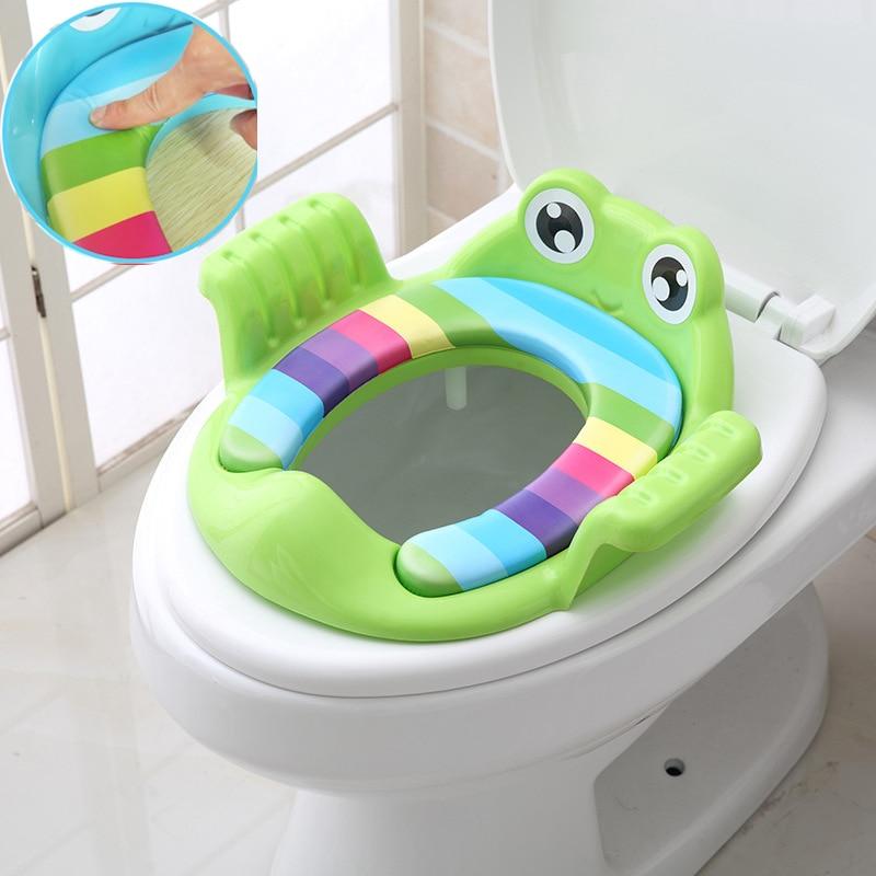 BalleenShiny Baby Potty Training Seat Children Soft Toilet Seat Cartoon Animals Baby Portable Pot Chair Pad Kids Potty Cushion