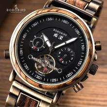 reloj mujer BOBO BIRD Women Wood Mechanical Watches Luxury Brand Lady Dress New Fashion Calendar Clock Dropshipping Custom Gift