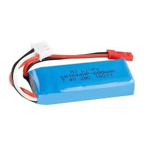Image 2 - Оригинальный 7,4 V 450mAh 20C Lipo аккумулятор для WLtoys K969 K979 K989 K999 P929 P939 RC автозапчасти 2s 7,4 v батарея 5 шт./лот
