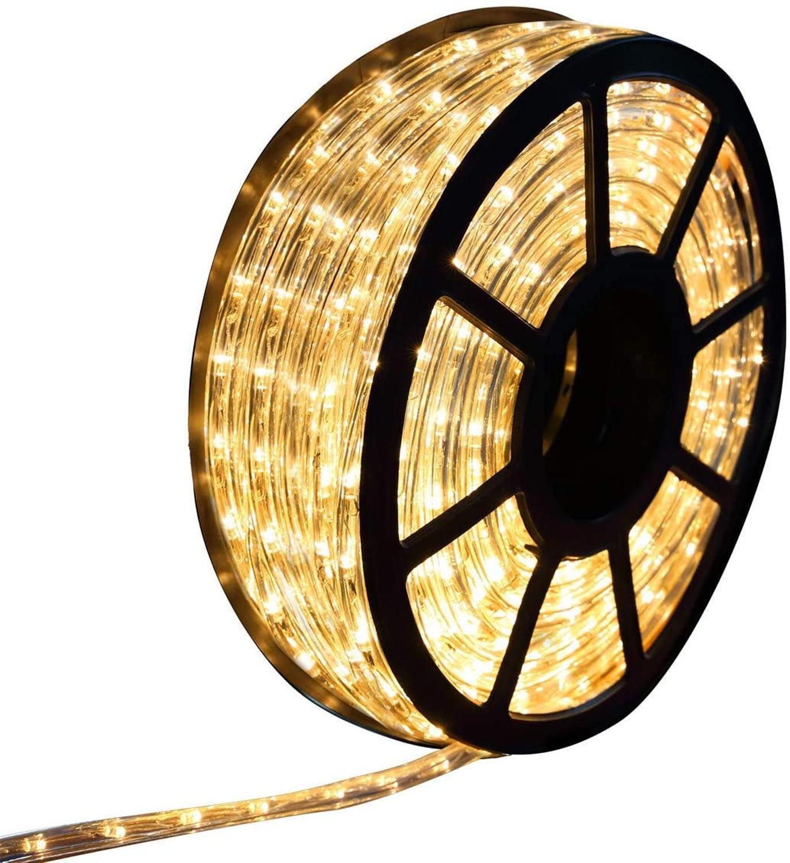 PCAFRS 50FT Waterproof LED Rope Lights, 15M 110V 540LEDs Led Strip Lights For Party Christmas Home Kitchen Bedroom Room Indoor O