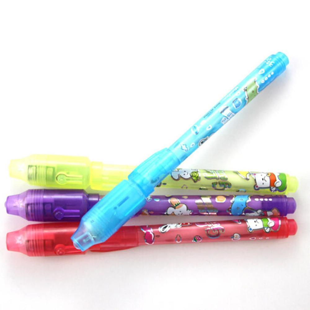 New Creatively Secret Message Invisible Ink Pen With UV Black Light Kid Student Gift