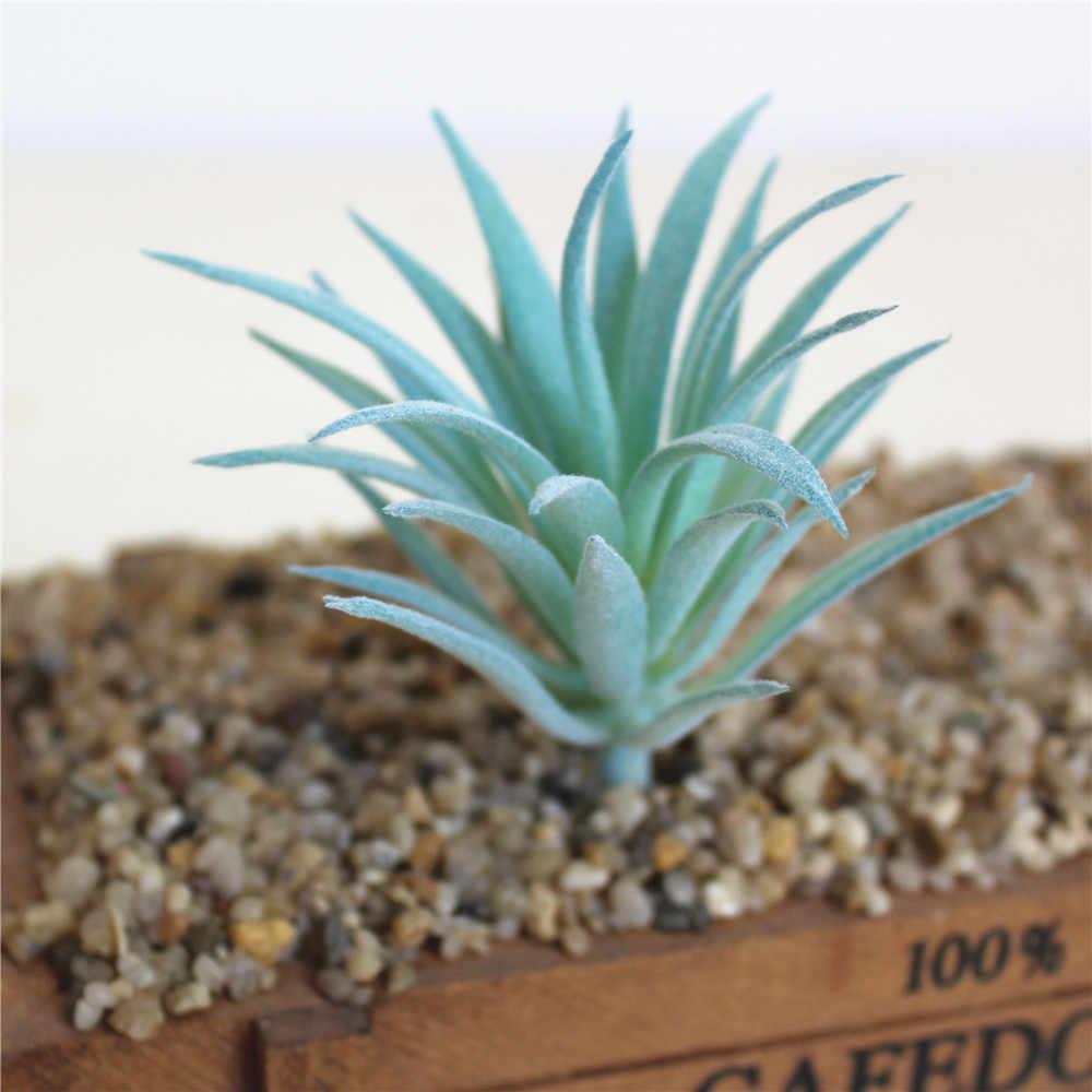 Azul artificial plantas suculentas casamento casa jardim decoração arranjo de flores acessórios bonsai planta planta artificial artificielle