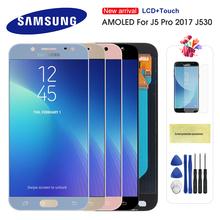 Oryginalny wyświetlacz LCD do Samsung Galaxy J5 2017 J530 J530F wyświetlacz LCD ekran dotykowy Digitizer zgromadzenie lcd dla J5 Pro 2017 AMOLED LCD tanie tanio Pojemnościowy ekran 1280x720 3 LCD i ekran dotykowy Digitizer Black Blue Gold Pink 6 months Tested before shipment Super Amoled HD