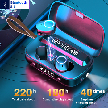 TWS Wireless Bluetooth Headphones Earphones Bluetooth 5.1 With Mic IPX7 Waterproof Headsets Auriculares Bluetooth Headset Gamer