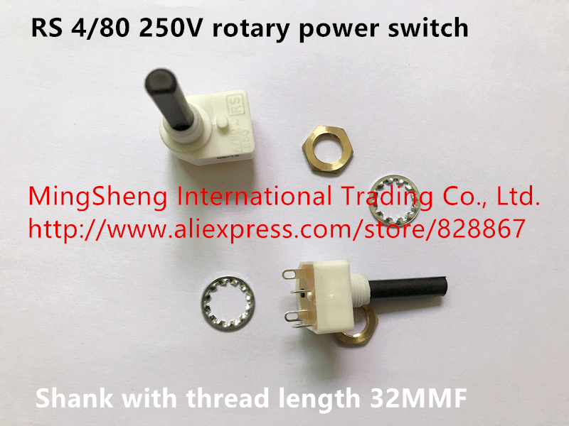 2 pieces Long Shank Rotary Switch