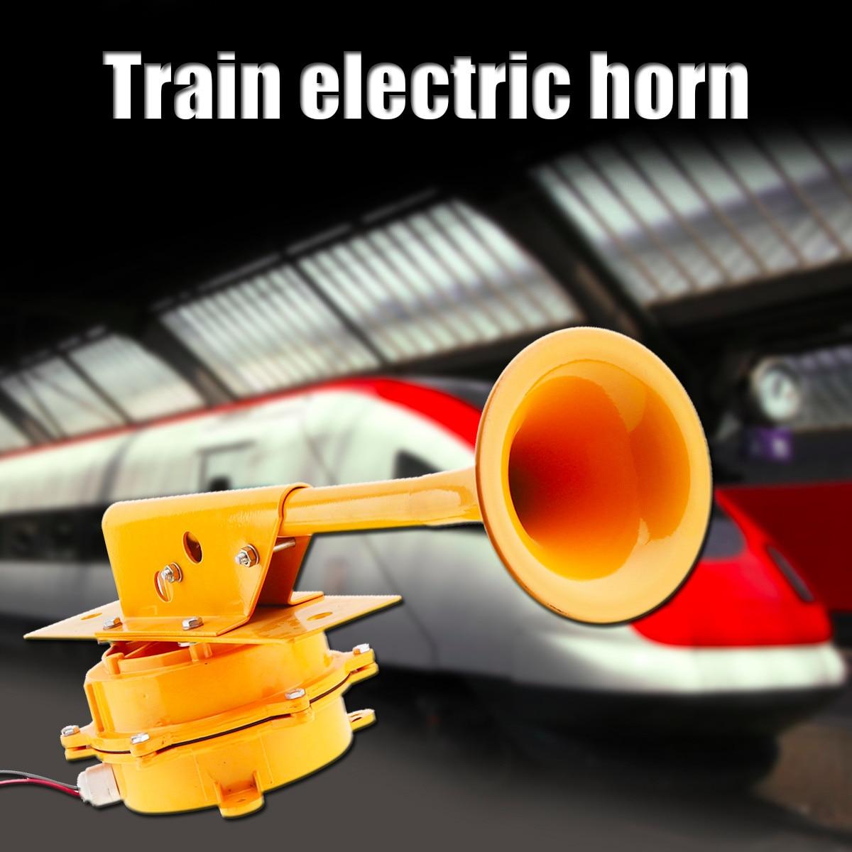 12V / 24V 126DB Super Loud Train Horn All Metal Car Air Horn No Need Compressor for Auto Truck Boat Train Lorry