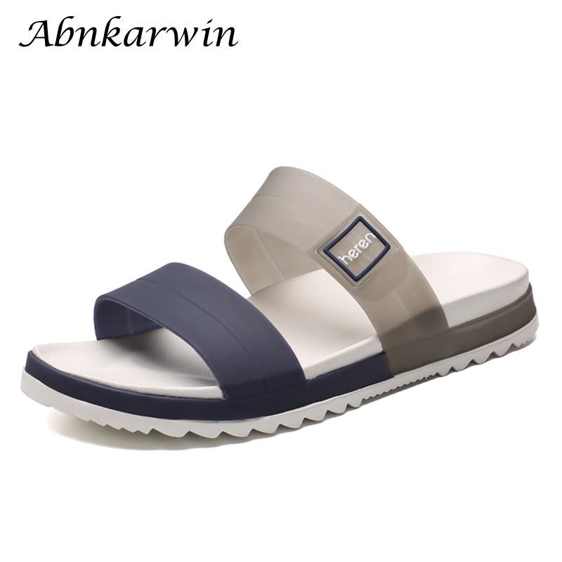 Summer Mens Outdoor Soft Rubber Beach Slippers Home Indoor Badslippers Slides Men Slipper Shoes Bassin Exterieur Jardin Goma Eva