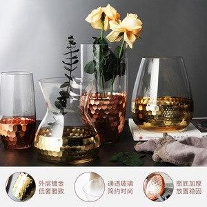 Image 4 - Europeo Disposizione Dei Fiori Fatti A Mano di Vetro Con Trasparente Bottiglia di Acqua Decorazione Della Casa di Nozze Pianta Vaso Decorativo