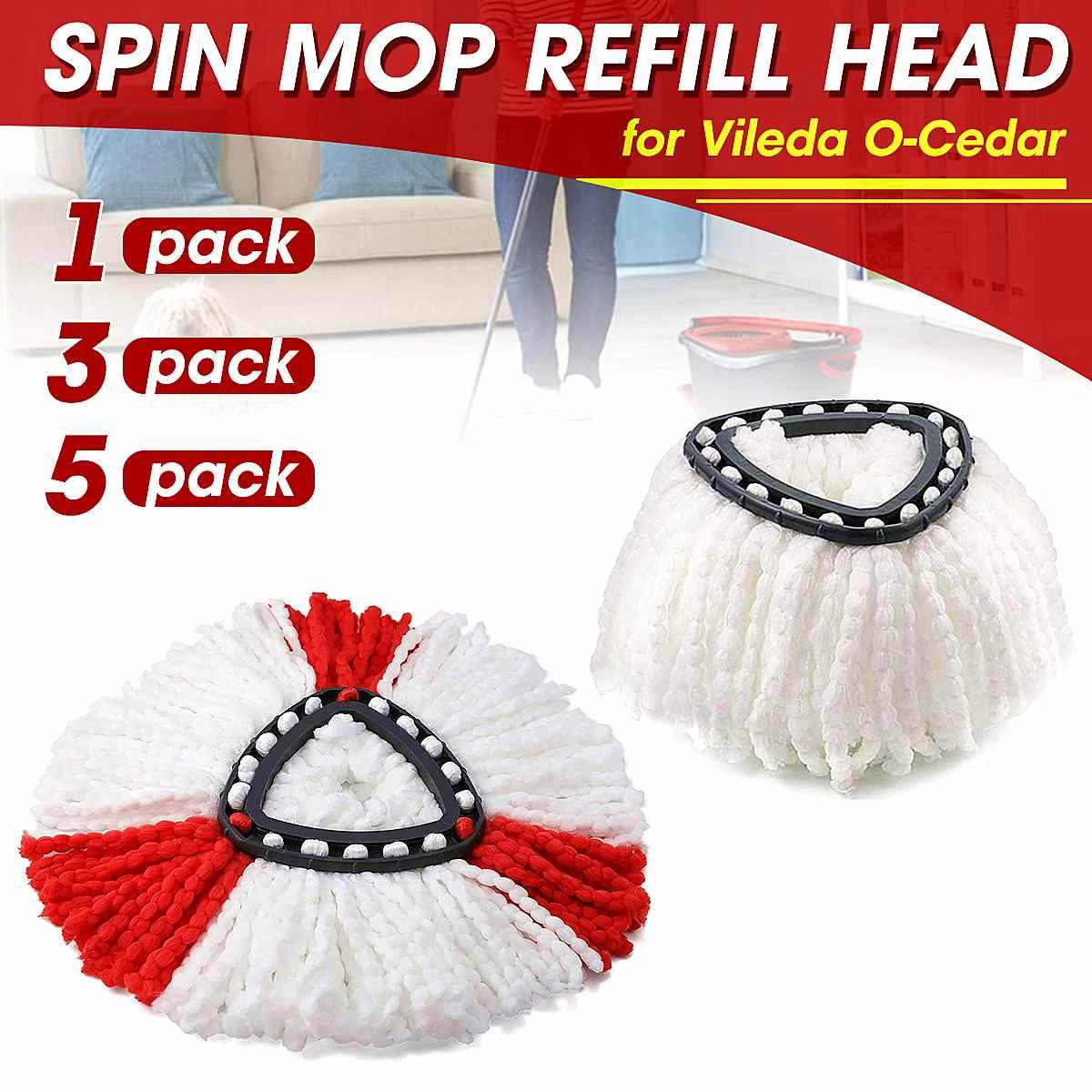 1/3/5pcs Microfiber Spin Mop Schoon Refill Vervanging Hoofd voor Vileda O-Ceder EasyWring Mop thuis Cleaning Tools Mop Accessoires