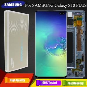 Image 1 - 3040x1440 Original AMOLED 6,4 S10 PLUS LCD Für SAMSUNG Galaxy S10 + SM G9750 G975F Display Touchscreen digitizer Ersatz