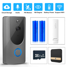 WI-FI дверной звонок Беспроводной смарт-дверной звонок Камера 720P HD проектор для домашнего монитора Ночное Видение безопасности беспроводной дверной звонок Домофон движения PIR