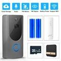 WI-FI дверной звонок Беспроводной смарт-дверной звонок Камера 720P HD проектор для домашнего монитора Ночное Видение безопасности беспроводной ...