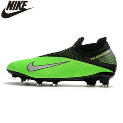 SCHNIKE Phantom VSN 2 Elite DF FG Mens Soccer Cleats Waterproof Knitted Seamless Socks Slip-on Soccer Shoes New Color