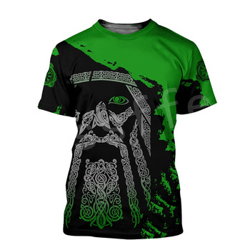 Tessffel NewFashion Viking Symbol Tattoo Viking Warriors Harajuku Unisex 3DPrint Summer Short Sleeve Streetwear T-shirts A4 1