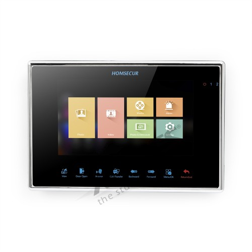 HOMSECUR BM719HD-B Monitor With Touch Button For HDK Video Intercom System