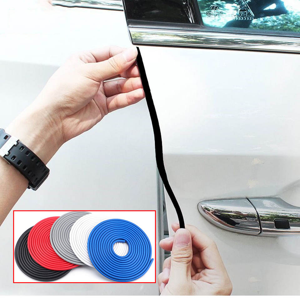 Car Door Edge Rubber Scratch Protector Car Door Scratch Strip Protection Sticker Anti Collision Rubber Seal Strips Sticker