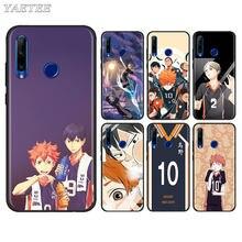 Haikyuu capa de celular de anime, capinha para telefone huawei honor 8x 9x 8a 9a 9s 9c 10i 10 20 lite capa macia de tpu preta 20s 20e 30 pro +