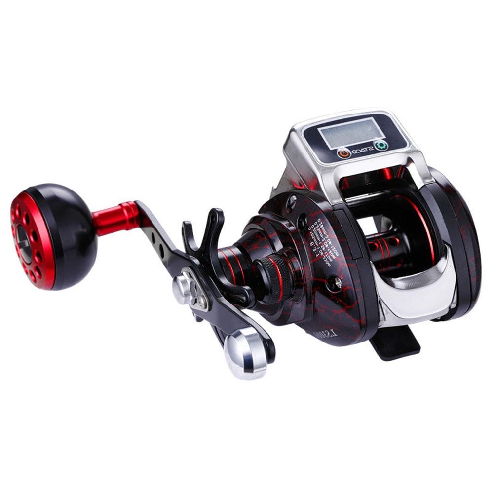 6.3:1 Aluminium Spool Durable Digital Display Plastic Fishing Reel Hand Spinning Outdoor Portable Easy Install Accessories Tools